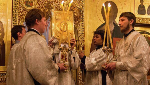 Рождество Христово в Богоявленском Кафедральном соборе. Архивное фото