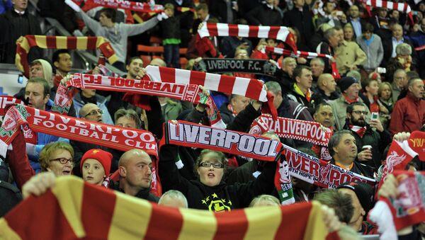 Болельщики футбольного клуба Ливерпуль. Архивное фото