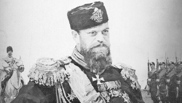 Репродукция портрета Александра III. Архивное фото