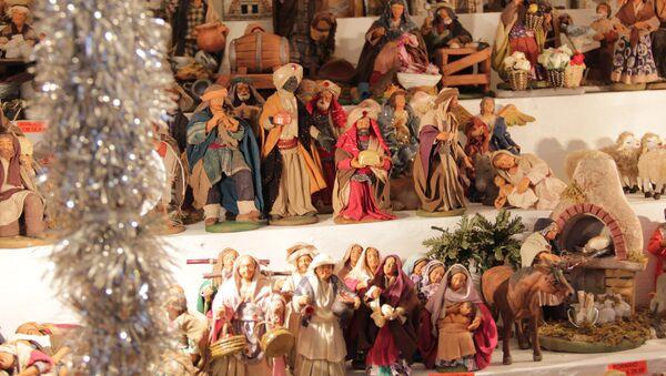 Рождественская ярмарка в Риме. Архивное фото