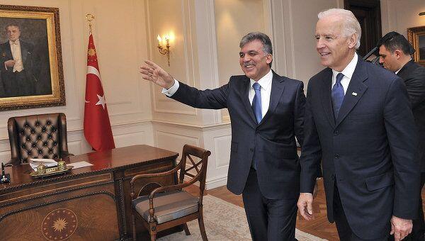 Встреча вице-президента США Джозефа Байдена с турецким президентом Абдуллахом Гюлем