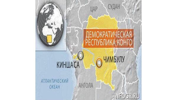 Демократическая республика Конго. Карта
