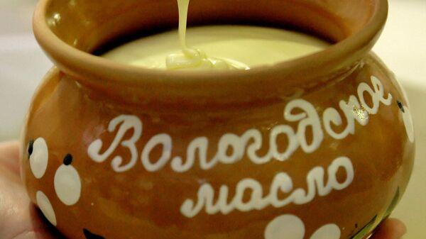 Производство сливочного масла на Вологодском молочном комбинате