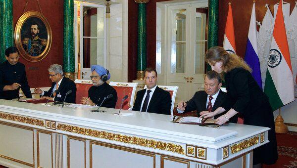 Российско-индийские переговоры в Кремле. Архив