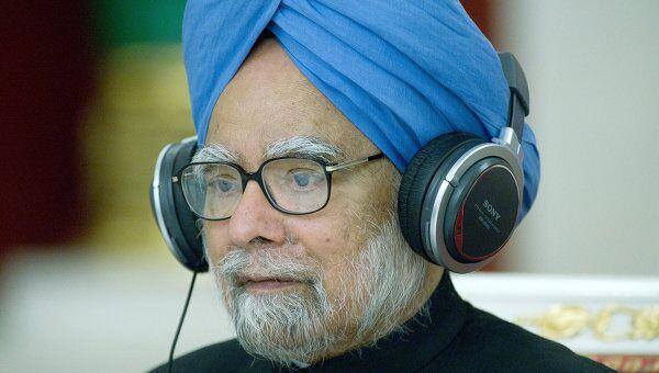 Премьер-министр Индии Манмохан Сингх принимает участие в совместной пресс-конференции по итогам российско-индийских переговоров в Кремле