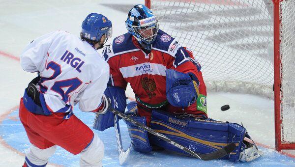 Игровой момент матча Россия – Чехия