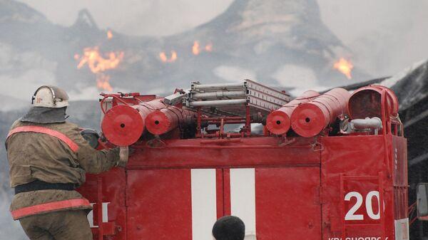 Пожар в здании красноярского аэропорта Черемшанка