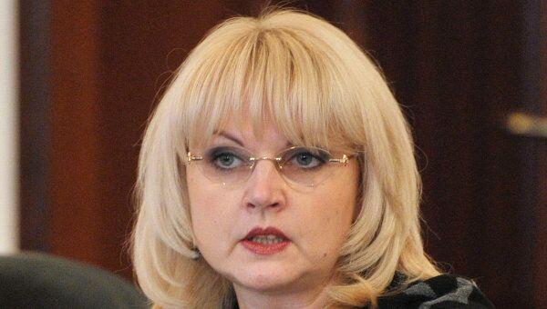 Министр здравоохранения и социального развития РФ Татьяна Голикова в зале переговоров администрации г.Гудермеса