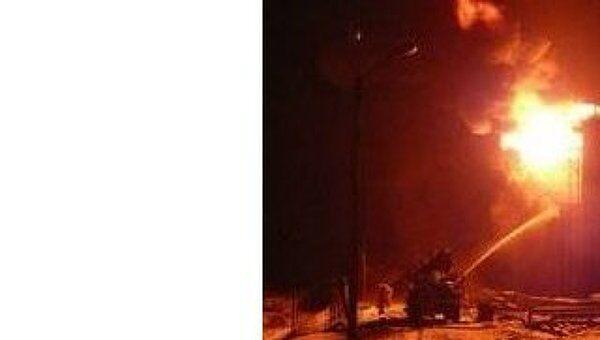 Пожар на нефтескладе во Владимирской области
