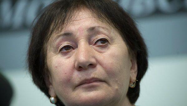 Лидер югоосетинской оппозиции Алла Джиоева . Архив