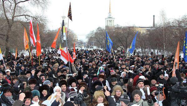 Акции оппозиции в регионах 24 декабря  Красноярск