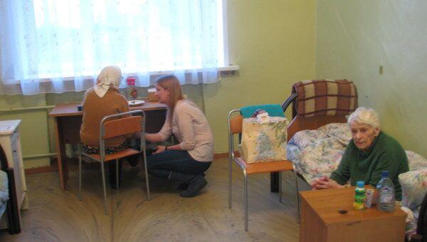 Волонтерский выезд в дом престарелых. Архивное фото