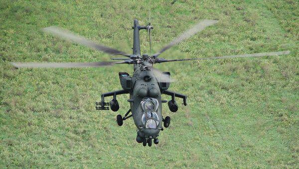 Боевой вертолет Ми-35М. Архивное фото