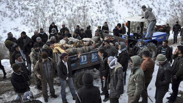 Погибшие в результате авианалета турецких ВВС в провинции Ширнак на юго-востоке страны