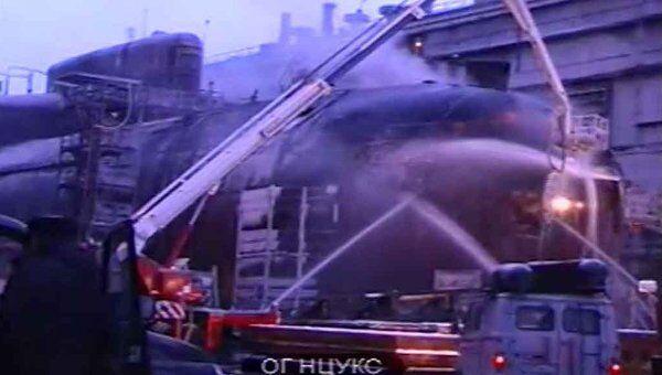 Работа пожарных на тушении АПЛ Екатеринбург
