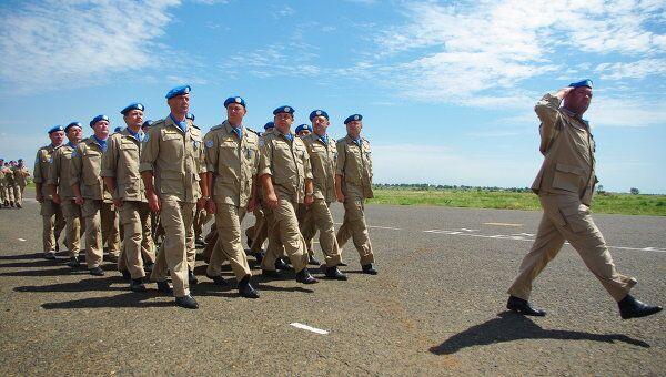 Парад российских миротворцев-ООН в Судане. Архивное фото