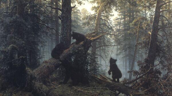 Репродукция картины Утро в сосновом лесу