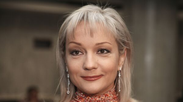 Певица Татьяна Буланова во время концертной программы «Песни для любимых» в Кремле, посвященной 8 Марта.