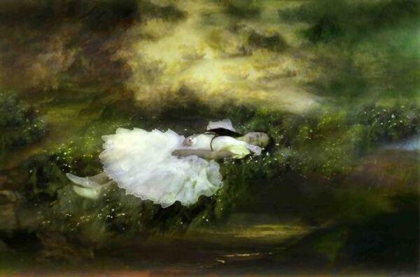 Работа художницы Аннелис Штрба Nyima 438 по мотивам произведений Льюиса Кэррола. 2009 год