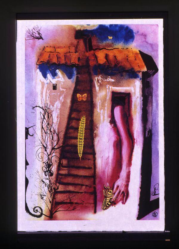 Сальвадор Дали. Иллюстрация к книге Льюиса Кэррола Алиса в Стране Чудес. 1969 год