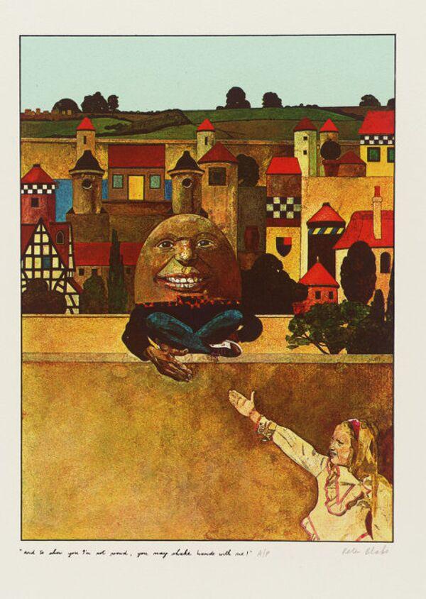 Питер Блейк Можешь пожать мне руку - я не гордый! - иллюстрация к книге Льюиса Кэррола Алиса в Зазеркалье