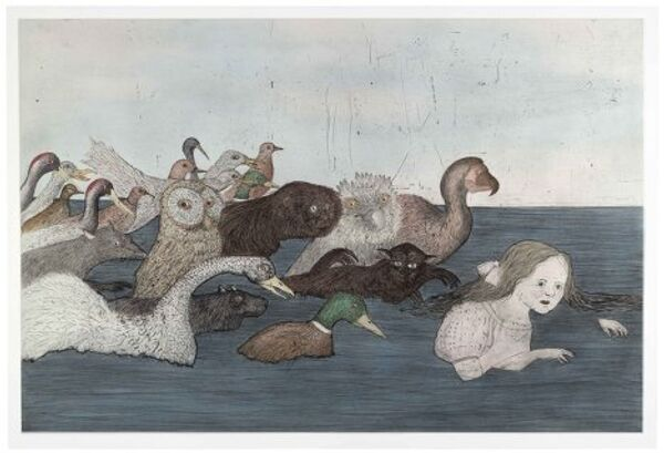 Кики Смит. Море слез 2 (После Льюиса Кэррола). Инталия, ручная раскраска, 2000 год.