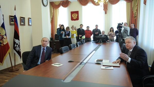 Премьер-министр РФ В.Путин посетил ФМС РФ