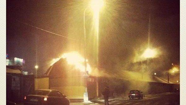 Пожар у метро Теплый стан