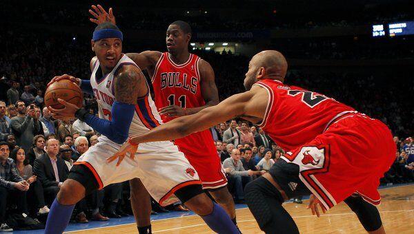 Игровой момент матча Чикаго - Нью-Йорк