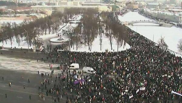 Митингующие на Болотной площади