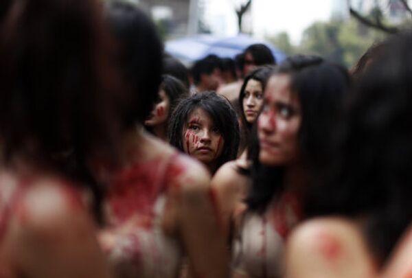 Мексиканские активисты протестуют против корриды