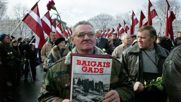 Шествие ветеранов легиона Ваффен СС в Риге