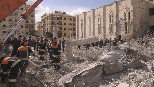 Ситуация в сирийском городе Алеппо. Архивное фото