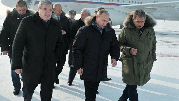 Рабочая поездка премьер-министра РФ Владимира Путина в Абакан