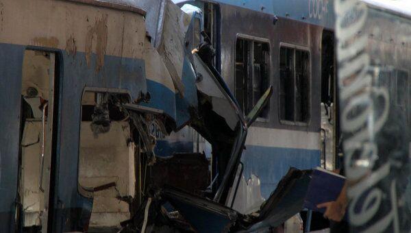 Железнодорожная авария на станции Once в центре Буэнос-Айреса. Архив