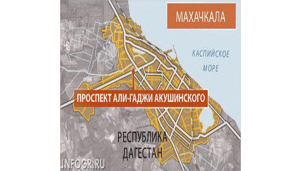 Махачкала, Дагестан. Карта