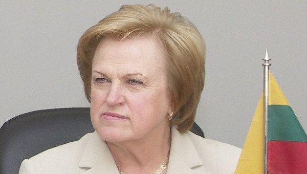 Экс-премьер Литвы Казимира Прунскене