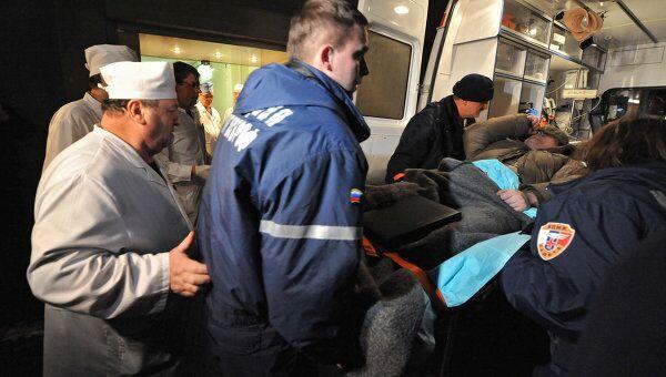 Пострадавшие во время взрыва в аэропорту Домодедово