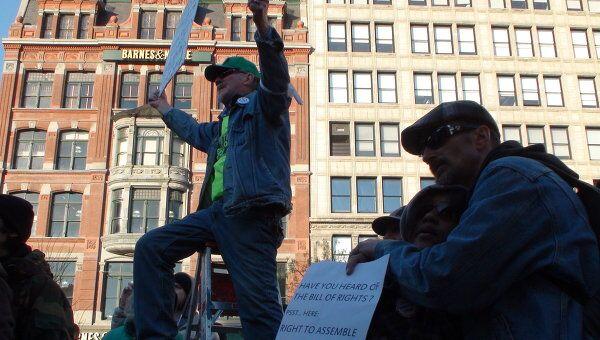 Движение Захвати Уолл-стрит в Нью-Йорке. Архив