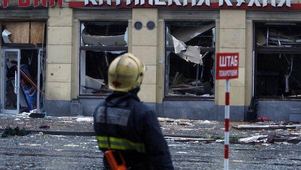 Взрыв газового баллона в ресторане Харбин в Санкт-Петербурге