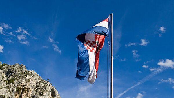 Флаг Хорватии. Архивное фото