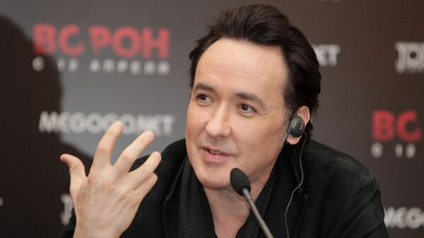 Пресс-конференция актера Джона Кьюсака в Москве
