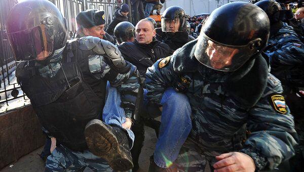 Задержание Сергея Удальцова