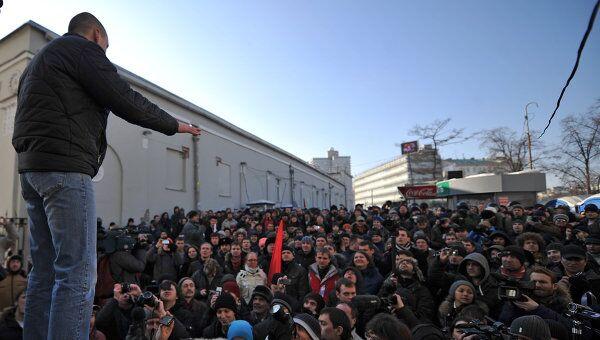 Несанкционированный марш оппозиции у к\т Художественный