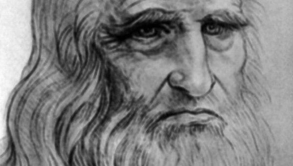 Репродукция автопортрета Леонардо да Винчи