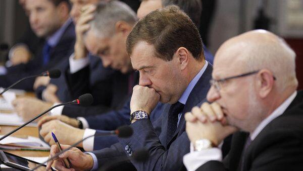 Президент РФ Д.Медведев провел заседание Совета при президента РФ в Новокуйбышевске