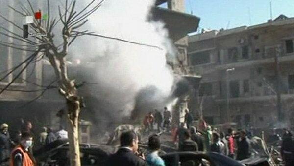 Последствия двойного теракта в Дамаске. Кадры с места ЧП