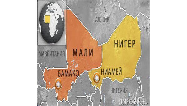 Карта Нигера и Мали. Архив