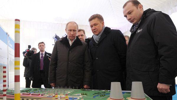 Премьер-министр РФ В.Путин посетил Киришскую ГРЭС