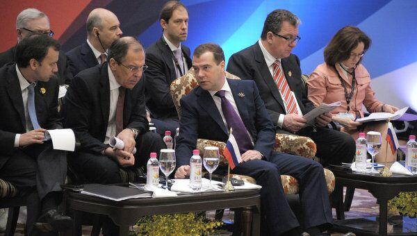 Д.Медведев принимает участие в саммите БРИКС. Архив